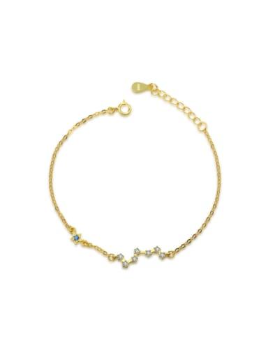 Korean Style Micro Pave Zircon Star Bracelet