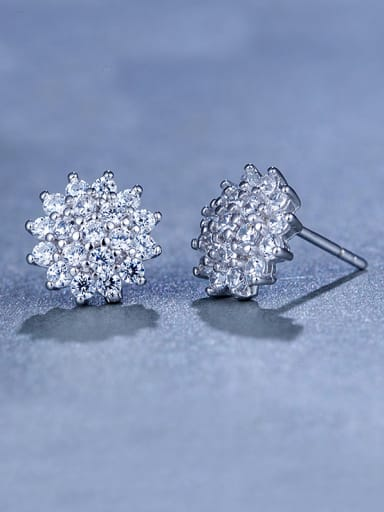 925 Silver Flower Cluster earring