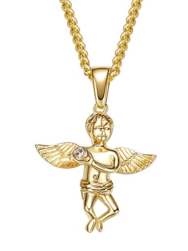 Personalized Angel Gold Plated Necklace