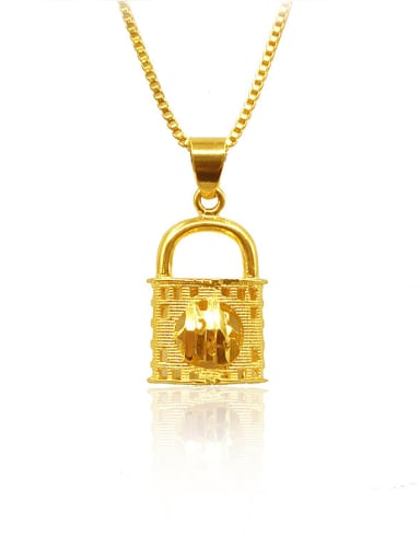 18K Gold Plated Locket Shaped Necklace