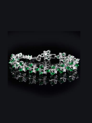 Exquisite AAA Color Zircons Bracelet