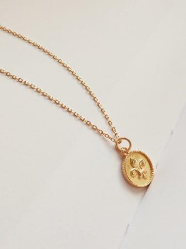 Pure silver 18K-gold necklace