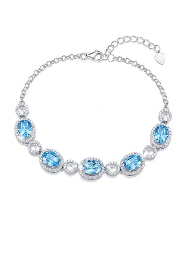 2018 2018 2018 2018 S925 Silver Crystal Bracelet