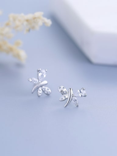 Fashion Butterfly Shaped Zircon stud Earring
