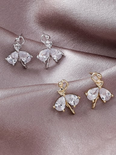 Alloy With Gold Plated Simplistic Angel Stud Earrings