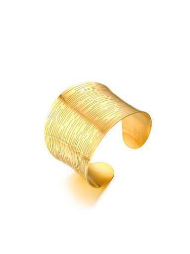 Luxury Gold Plated Open Design Titanium Bangle