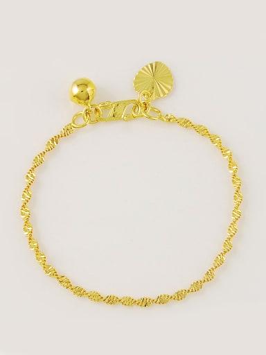Exquisite 24K Gold Plated Wave Shaped Copper Bracelet