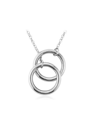 Double Rings Simple Women Necklace