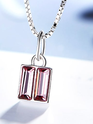 Square-shaped S925 Silver Necklace
