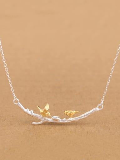 Personalized Little Birds Branch Necklace