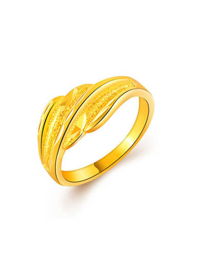 Unisex High Quality Geometric Shaped 24K Gold Plated Ring