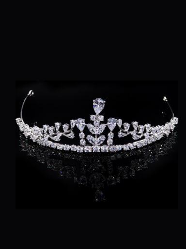 Sweetly Crown-shape Micro Pave Zircons Birthday Wedding Hair Accessories