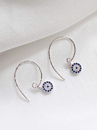 Fashion Personalized Evil Eyes Tiny Zirconias Silver Earrings