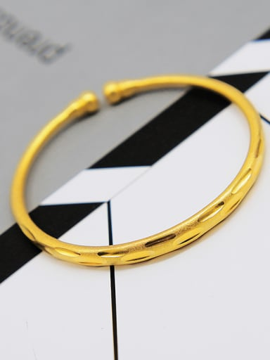 Women 18K Gold Plated Geometric Bangle