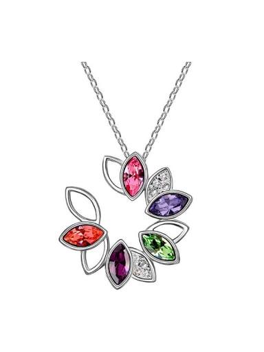 Fashion Marquise Swarovski Crystals Pendant Alloy Necklace
