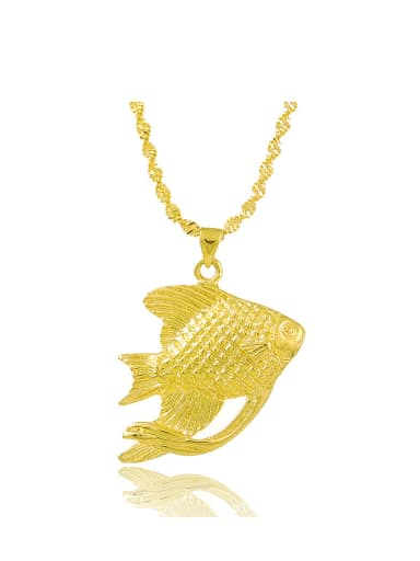 Exquisite 24K Gold Plated Fish Shaped Necklace
