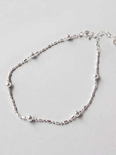 925 Sterling Silver With Classic beads Round Bracelets