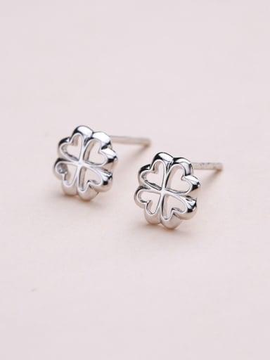 Fashion 925 Silver Snowflake Shaped stud Earring