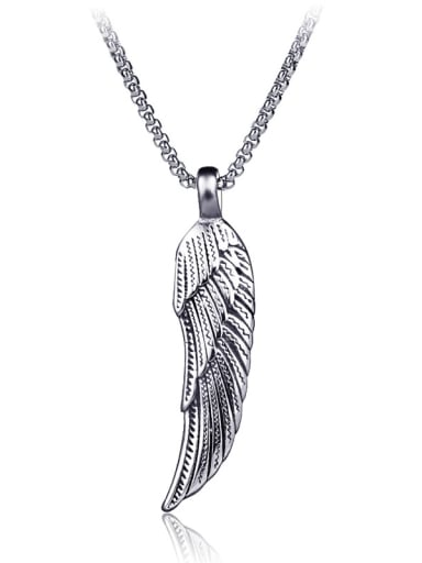 Stainless Steel With Antique Silver Plated Fashion wing Necklaces