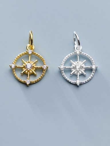 925 Sterling Silver With Cubic Zirconia  Personality Cross Charms