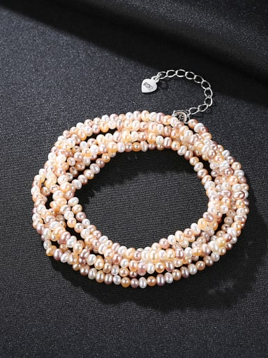 Classic natural pearl mixed coloured Necklace