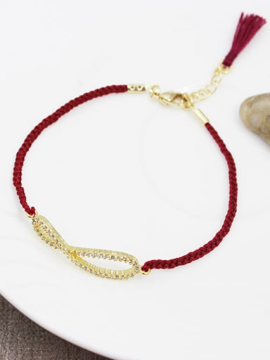 Women Handmade 8 Shaped Zircon Bracelet