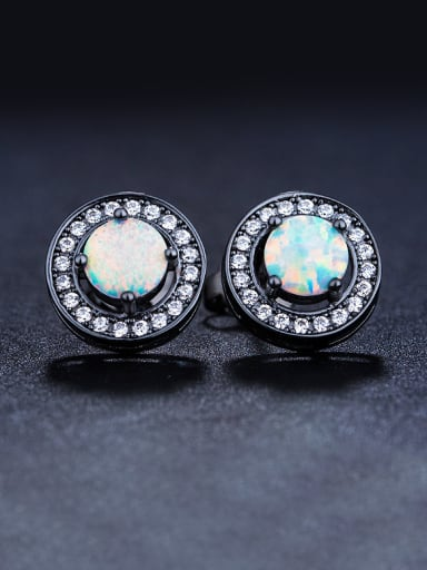 Round-shaped stud Earring