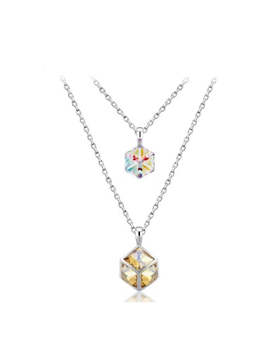 Double Chain Crystal Necklace