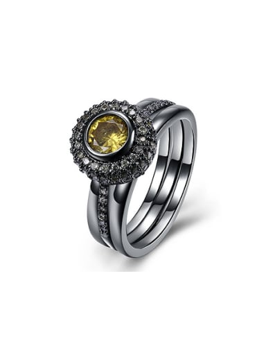 Retro style Personalized Round Zircon Ring