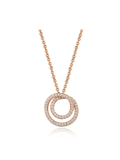2018 Rose Gold Plated Zircon Necklace