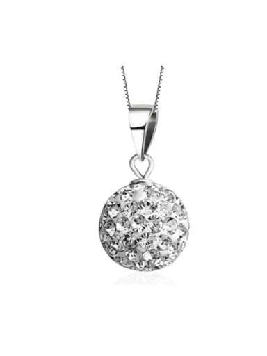 Micro Pave Zircons Ball Shining Only Pendant