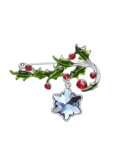 Fashion Christmas Swarovski Crystals Brooch