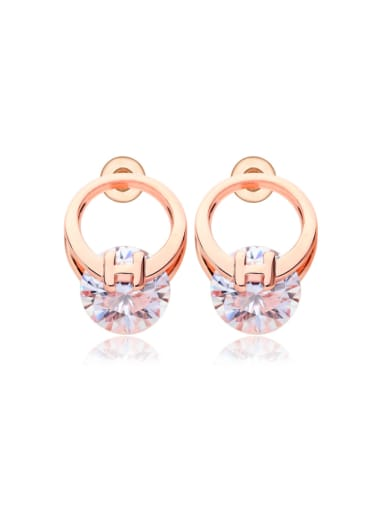 AAA zircon single commuting Earrings