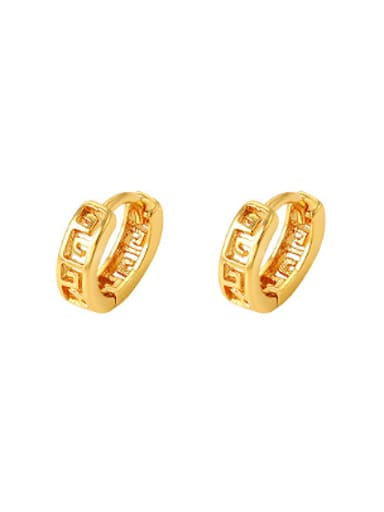 Ethnic style hollow Women Clip Earrings