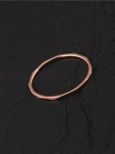 Rose Gold Geometry Section Ring