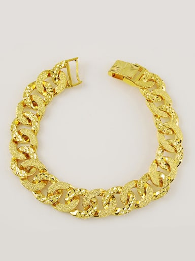 High Quality Gold Plated Round Design Copper Bracelet