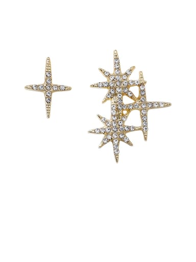 Alloy With Imitation Gold Plated Fashion Star Stud Earrings