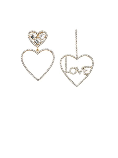 Alloy With Gold Plated Fashion Heart Drop Earrings