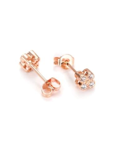2017 New Korean Steel Flower stud Earring
