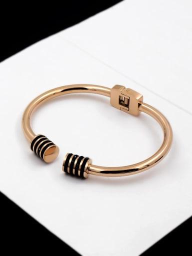 2018 New Design Simple Fashion Classical Zircons Titanium Bracelet
