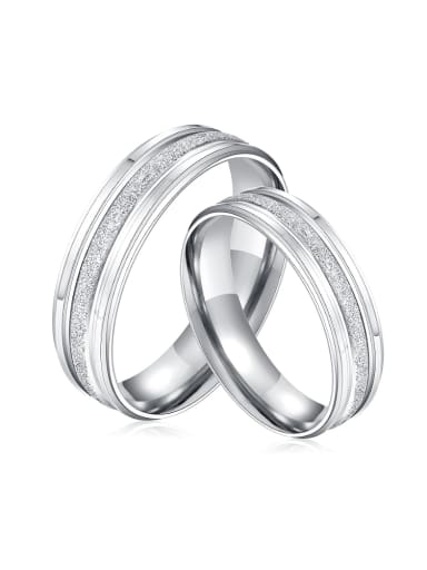 Simple Titanium Smooth Lovers Ring