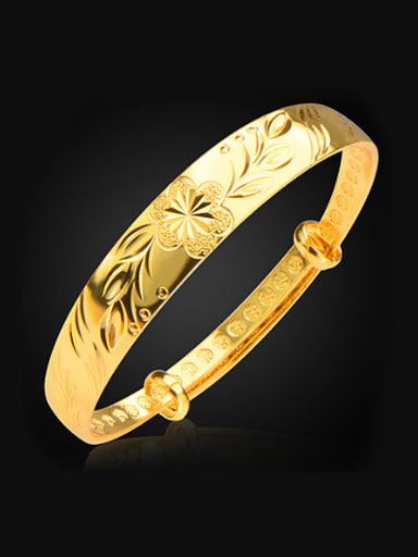 Classical Flower Engraved Bangle
