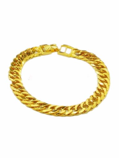 Men Personality 24K Gold Plated Geometric Shaped Bracelet
