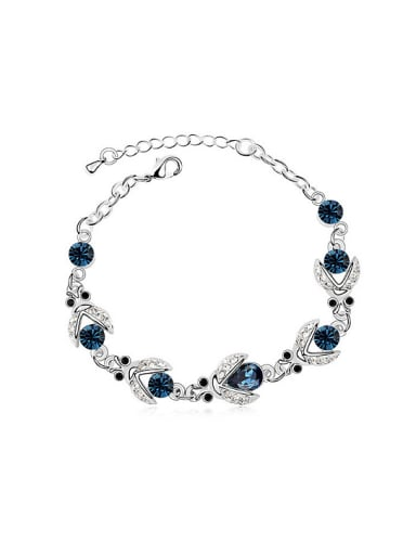 Fashion Little Beetles Cubic Swarovski Crystals Alloy Bracelet