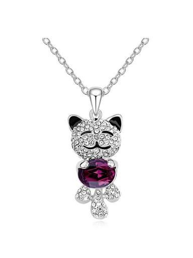Chanz using SWAROVSKI Elements Crystal Necklace Angel Bear cartoon Pendant