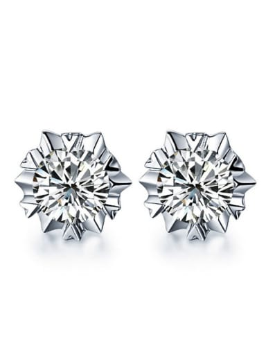 Small Exquisite Fashion Shining Zircons Stud Earrings