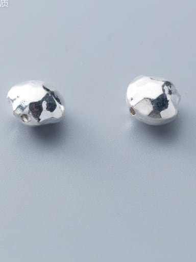 925 Sterling Silver With Silver Plated Simplistic Smooth Geometric Beads