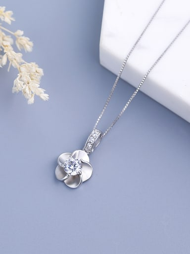 S925 Silver Plum Blossom Pendant