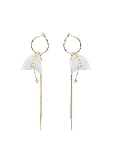 Fashion Tassels Gold Plated PVC Drop Earrings
