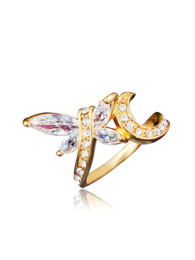 Exquisite Dragonfly Shaped 4A Zircon Women Ring